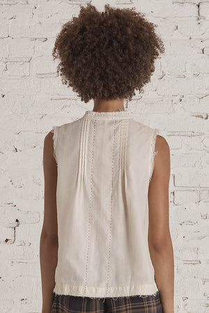 Marfa Sleeveless Shirt Ecru