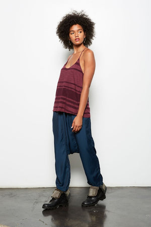 TOKI STRIPED RACERBACK TANK TOP MULBERRY