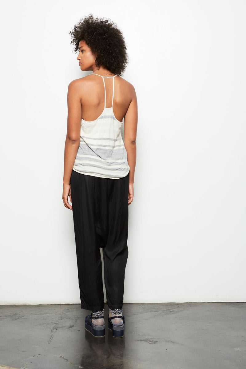 TOKI STRIPED RACERBACK TANK TOP NATURAL