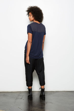 ELEMENTS CROPPED HAREM PANT BLACK