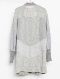 Upcycled Cashmere Sweater Dress Heather Grey