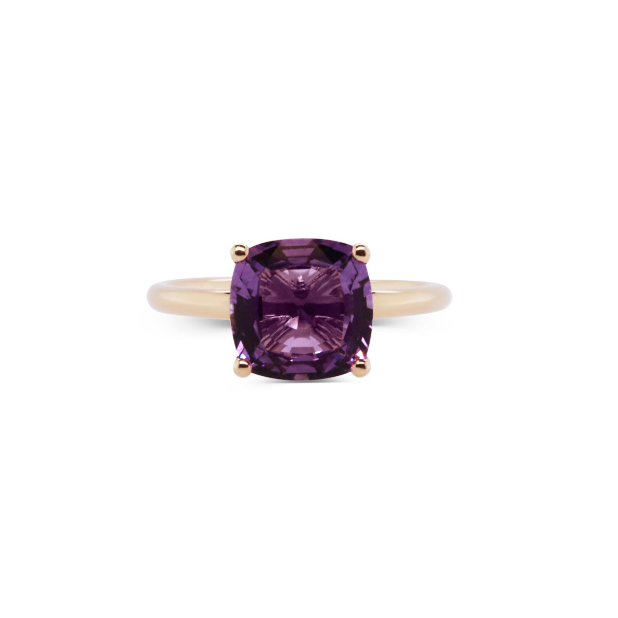 Square Amethyst 14ct Yellow Gold Ring