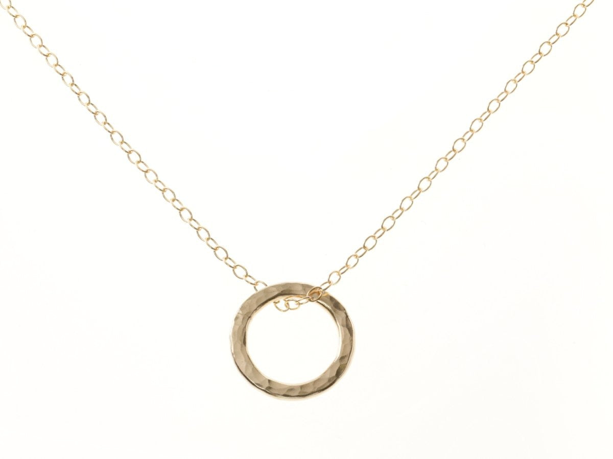 Gold Single Circle Pendant