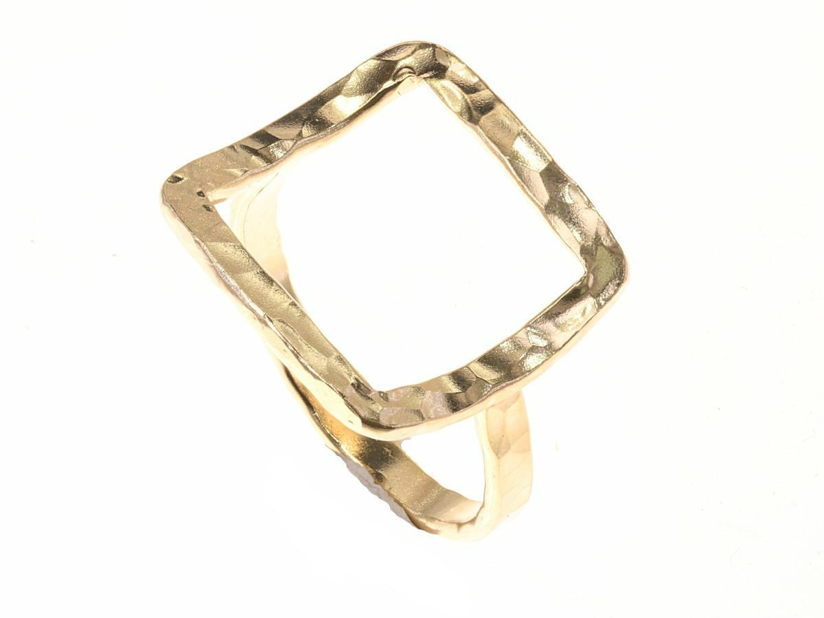 Gold Open Square Ring