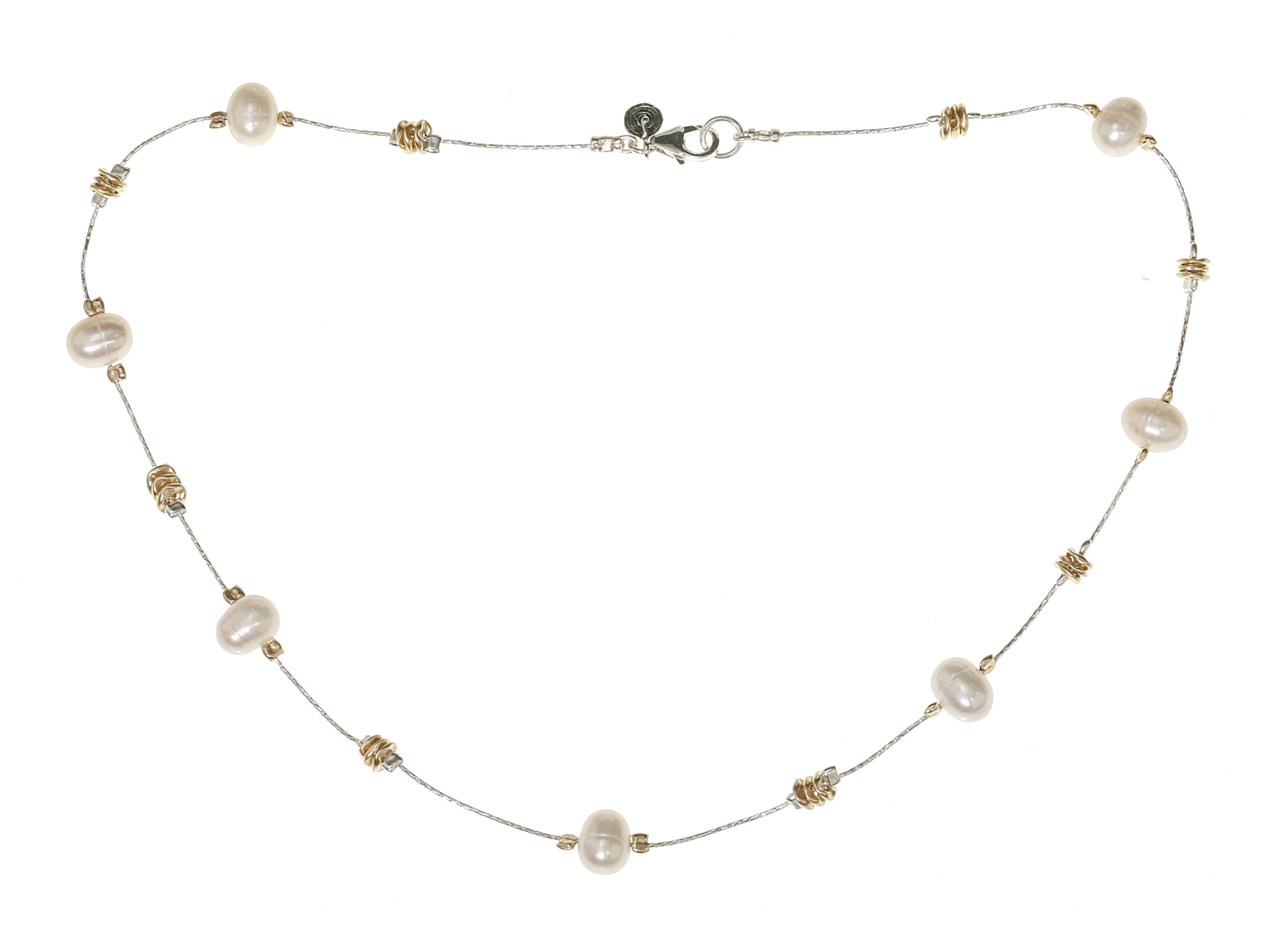 Pearl Silver Gold Delicate Necklace