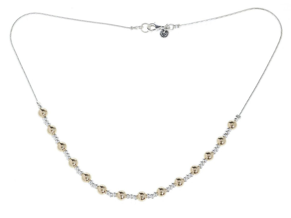 Gold and Silver Classic Seoidin Necklace