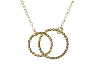 Gold Bubble Double Circle Pendant