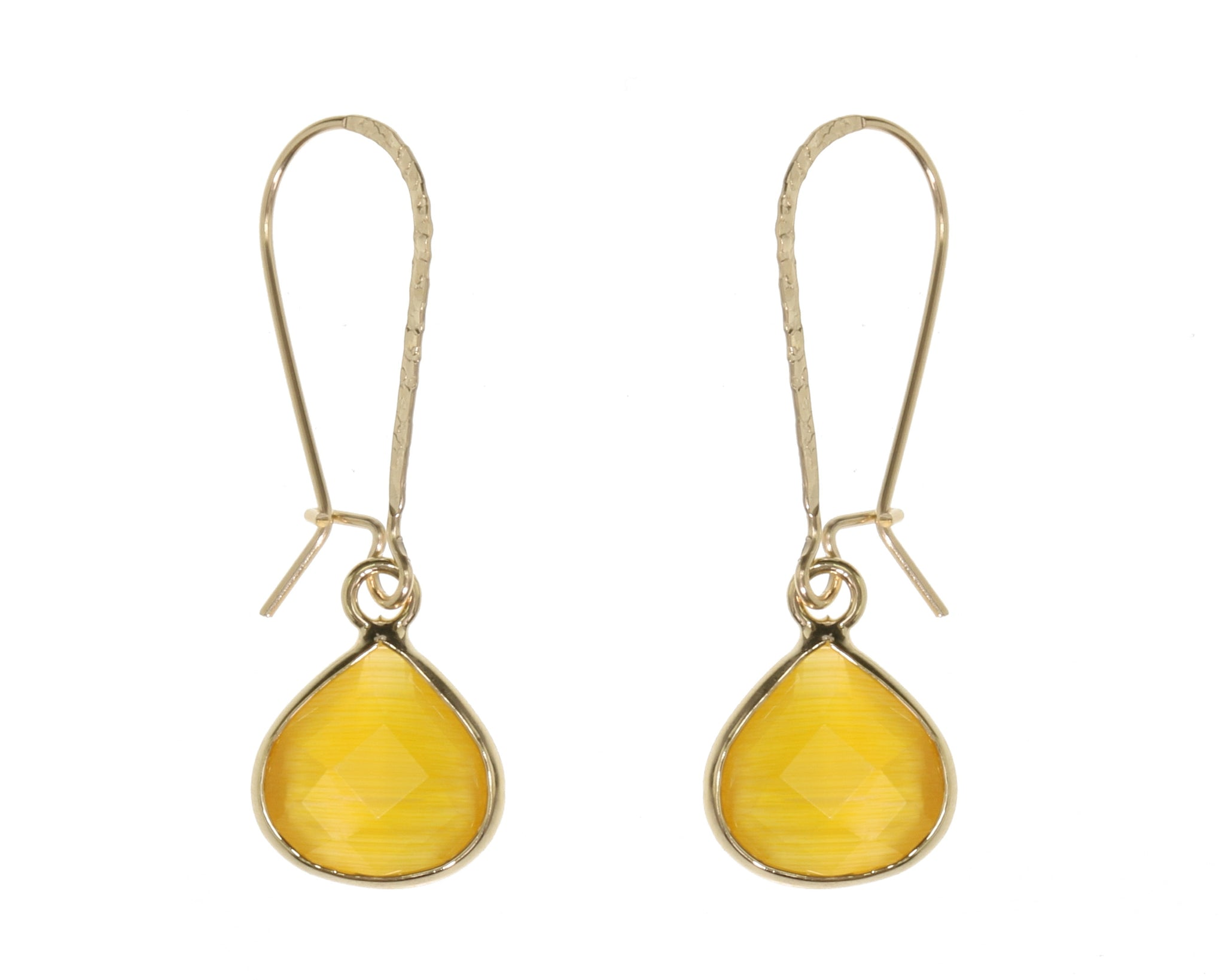 Gold Drop Colour Earrings