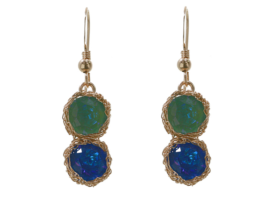 Coloured Drop Earrings