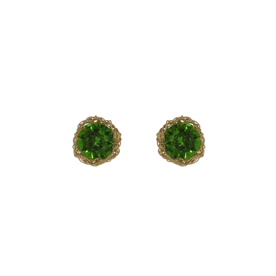 Bright Crochet Stud Earrings