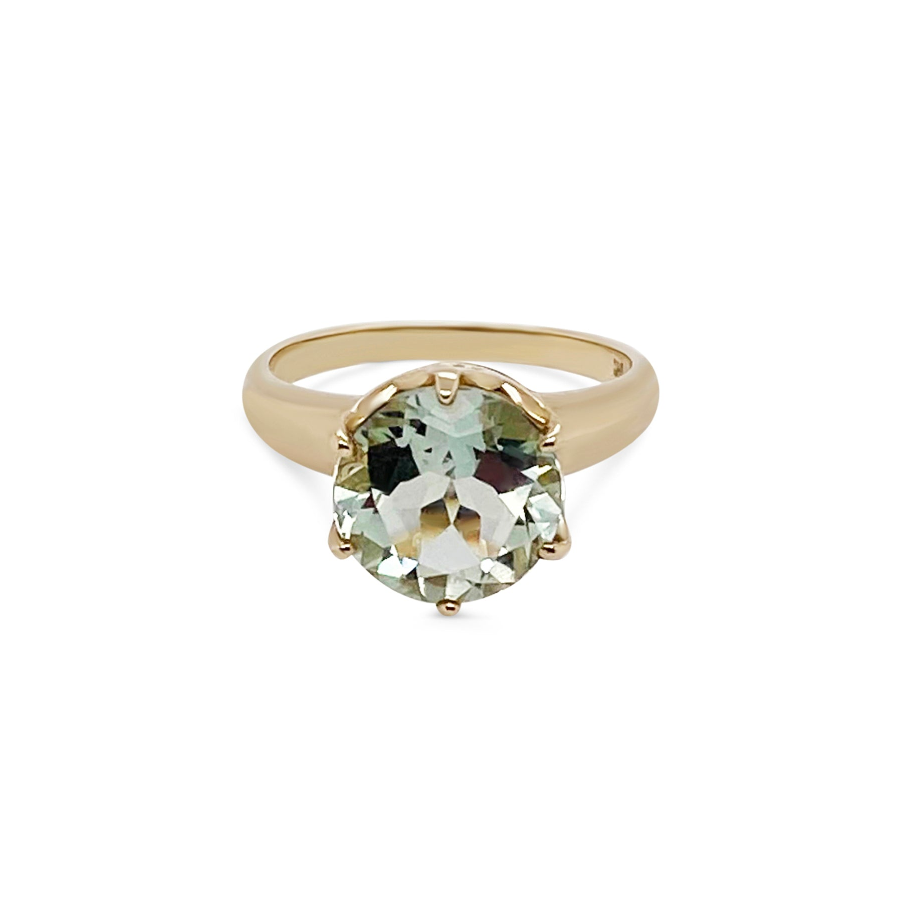 Green Amythst Stoned Ring
