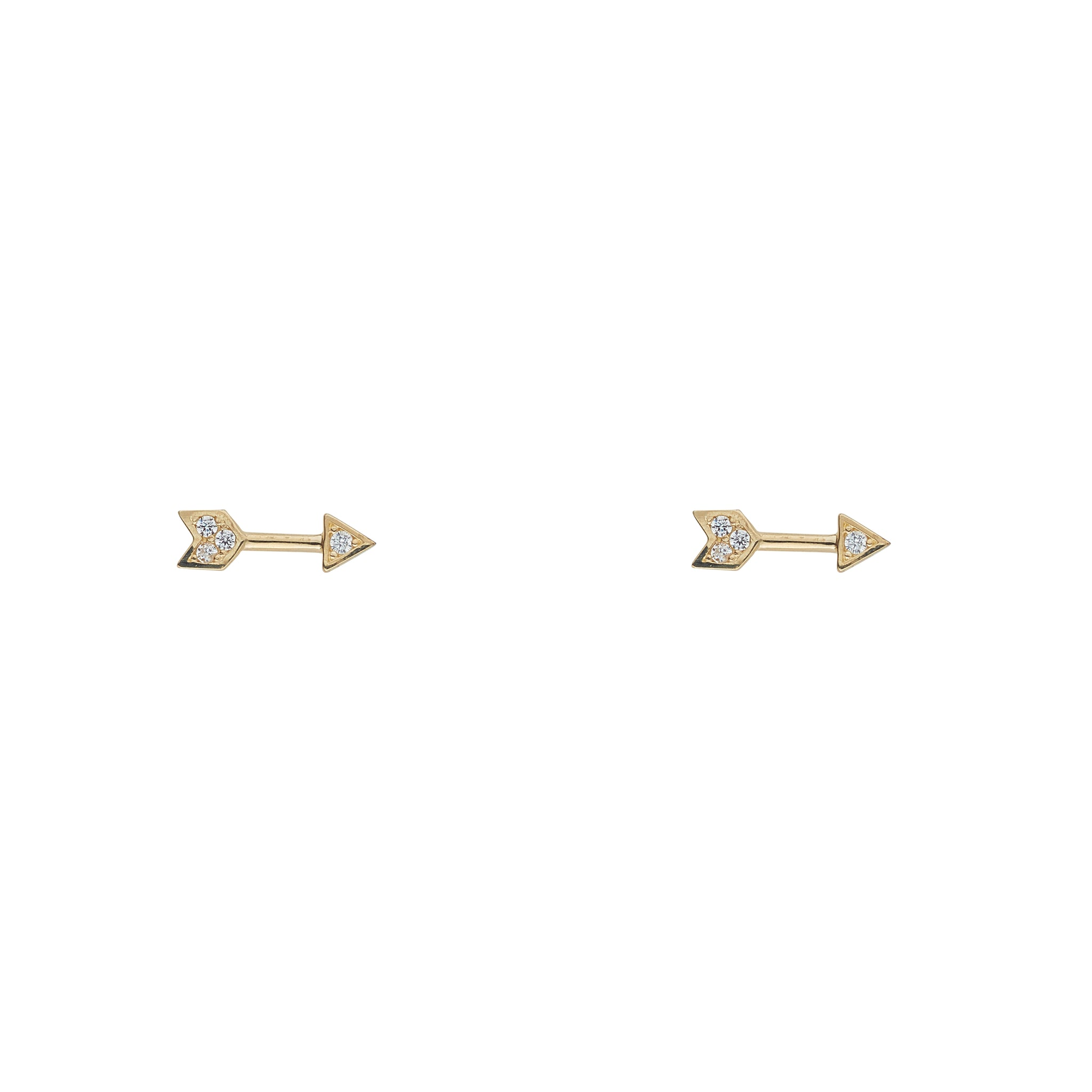 9ct Gold Arrow Earring