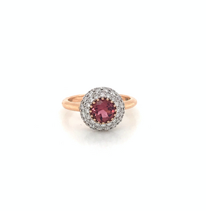 Indian Pink Tourmaline Ring