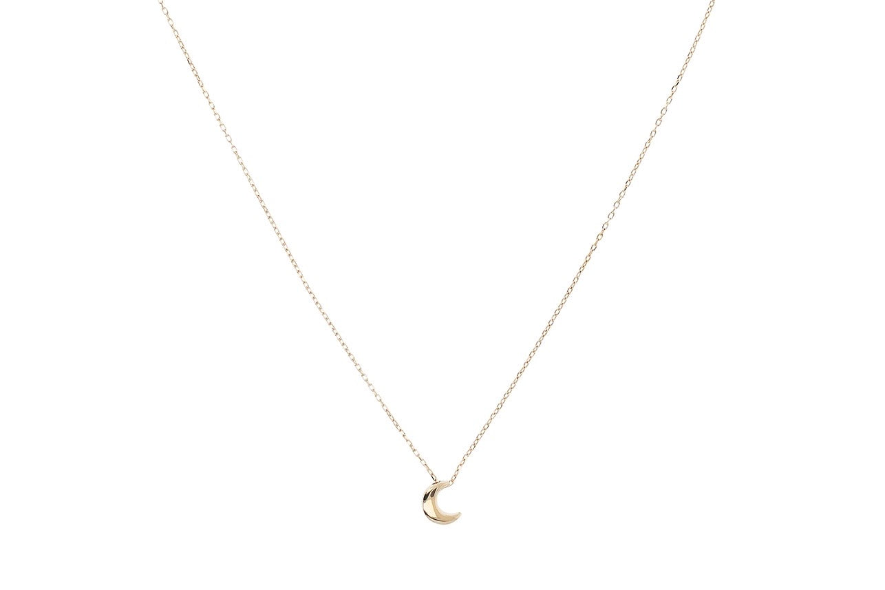 9ct Gold Crescent Pendant