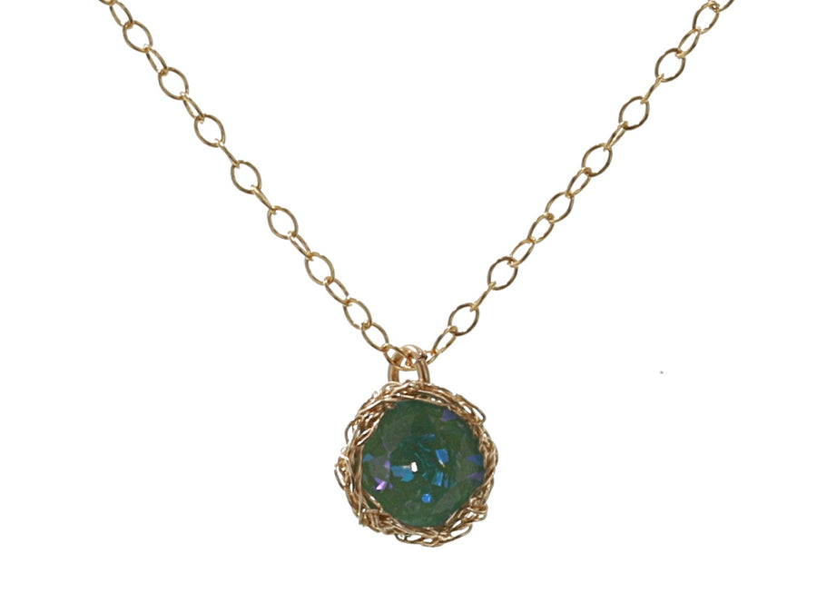 Pacific Opal Crochet Necklace