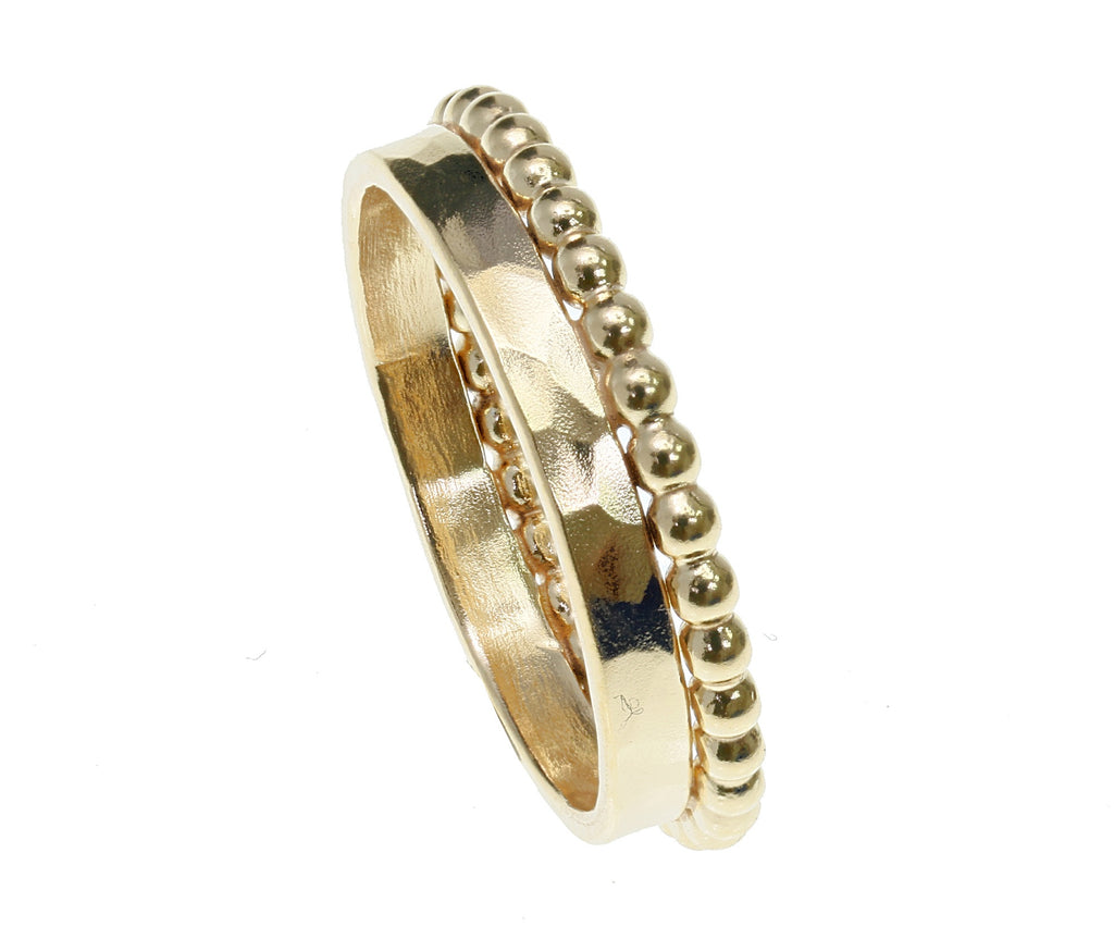 Gold bubble band ring