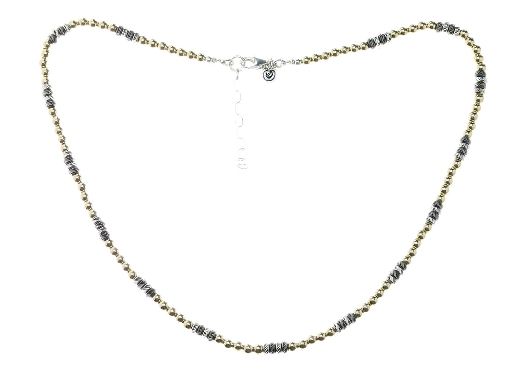 Gold Oxidised Necklace