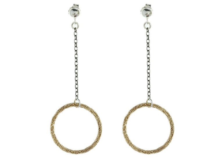 Crochet Open Circle Drop Earrings