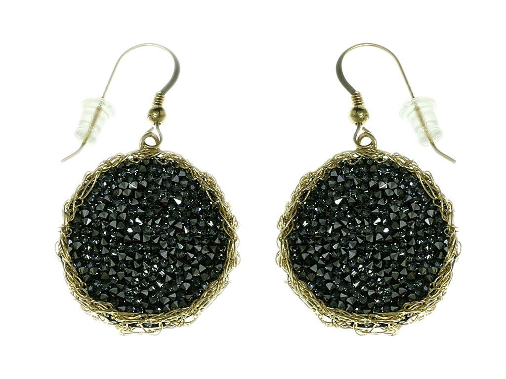 Druzy crochet earrings