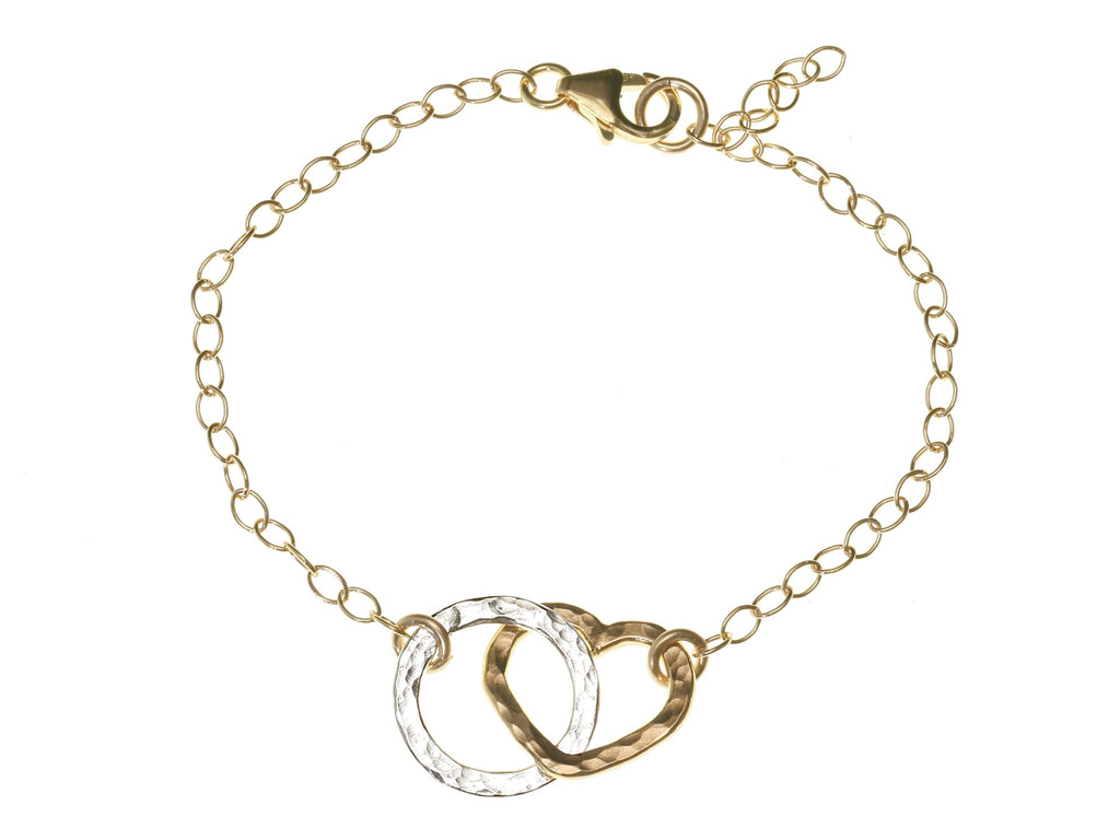 Simple Heart And Circle Bracelet