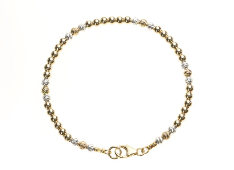 Simple gold and silver stacking bracelet