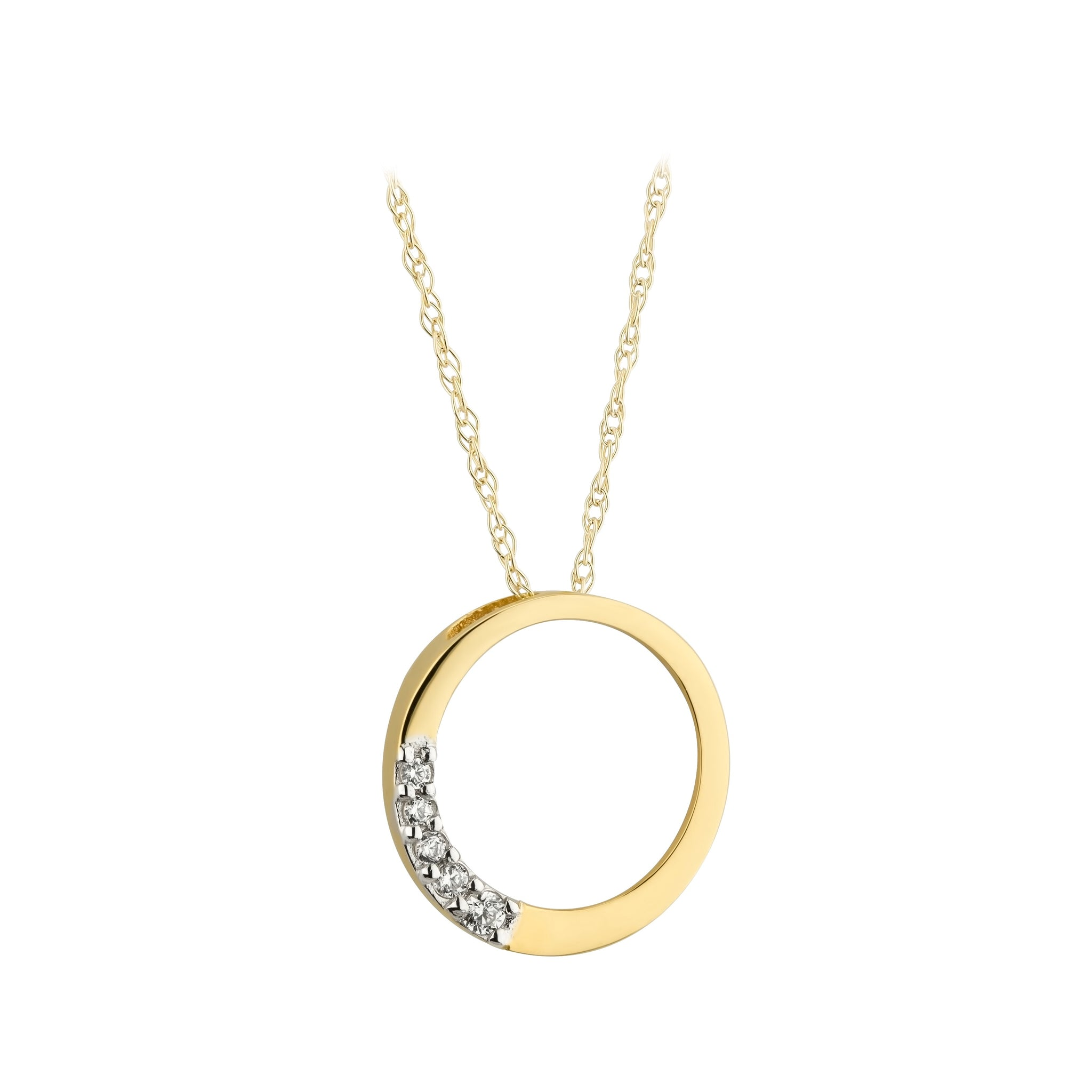 Cz Open Circle Necklace