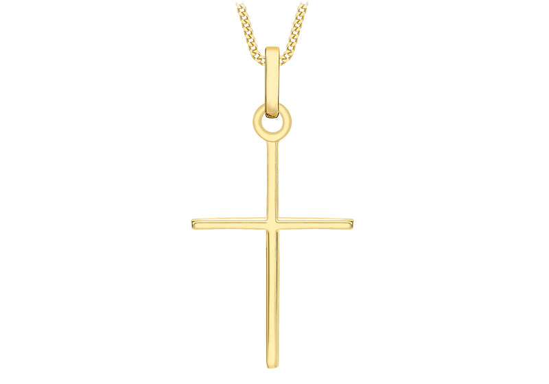 9ct cross necklace