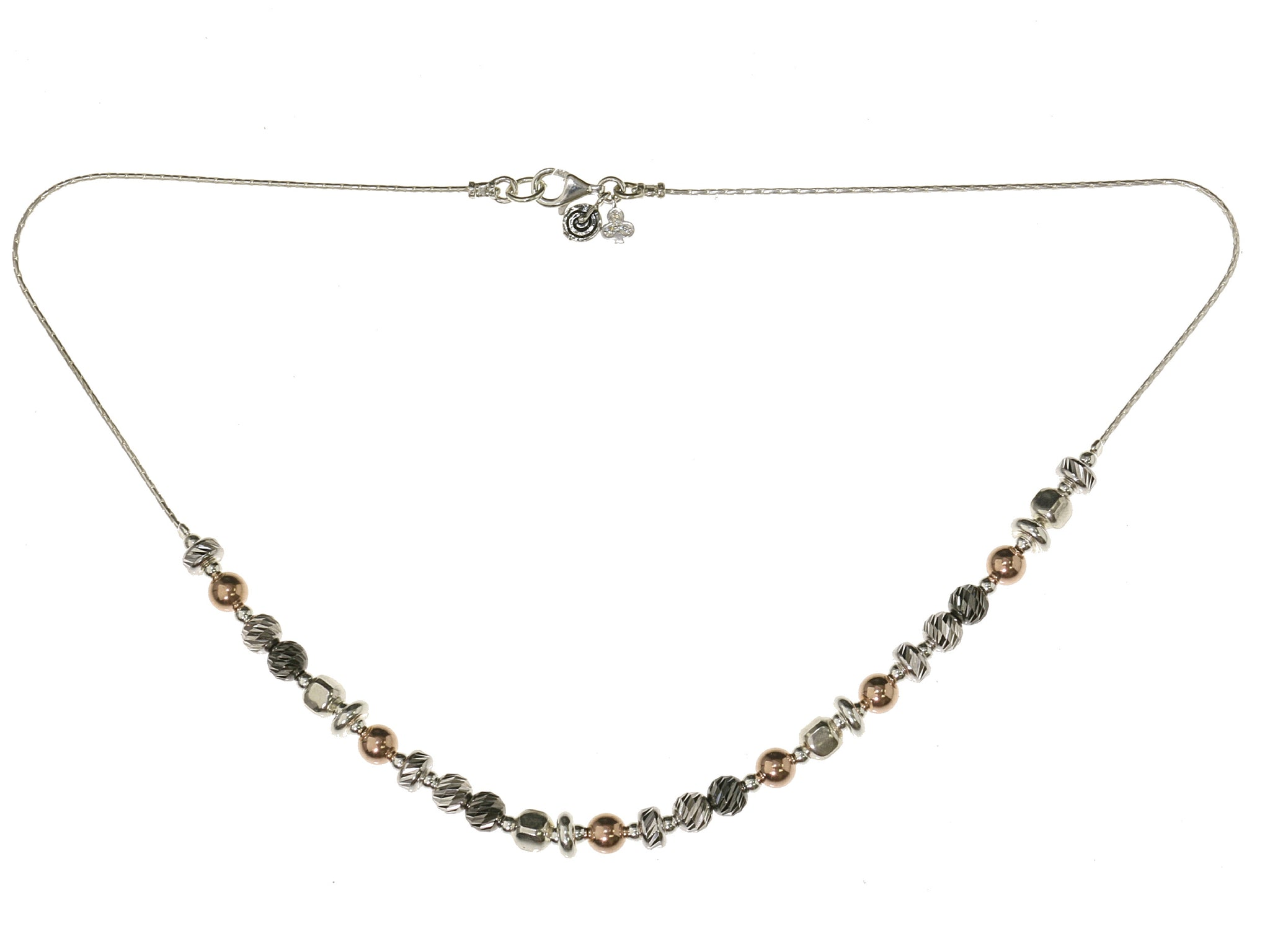 Two Tone Drop Necklace