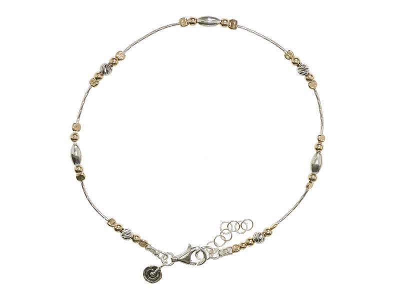 Two Tone Sparkle Anklet