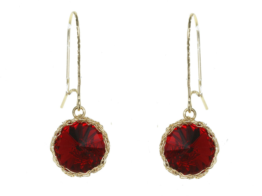 Siam Stoned Drop Earrings