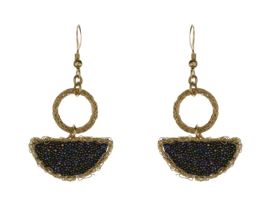 Druzy Stoned Crochet Drop Earring