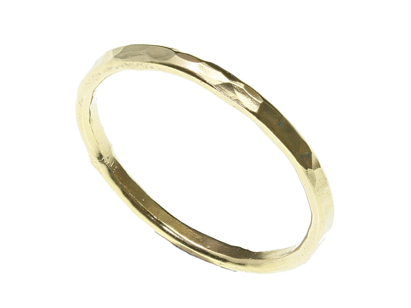 Gold band stacking ring