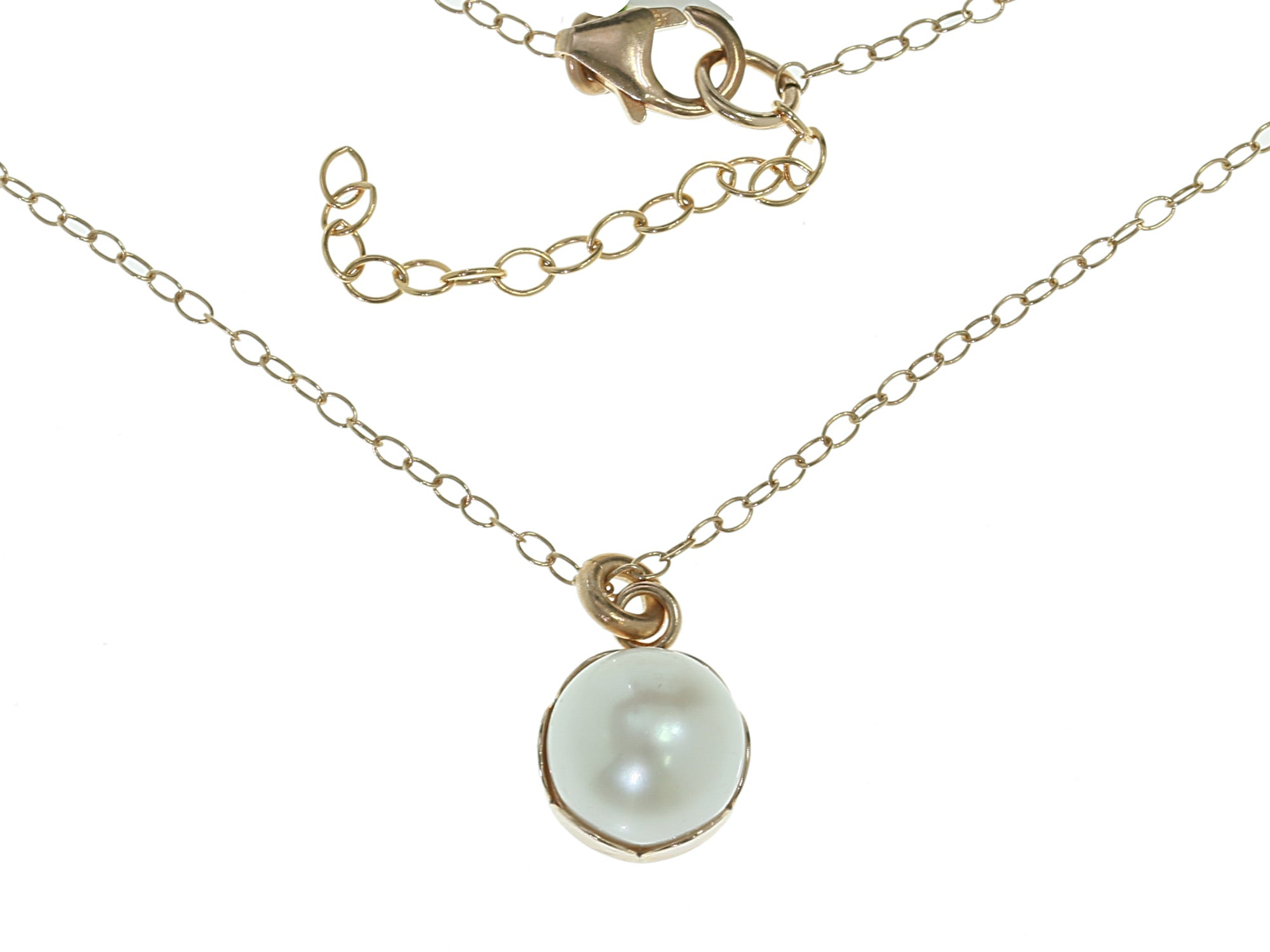 Yellow Gold Necklace with Pearl
