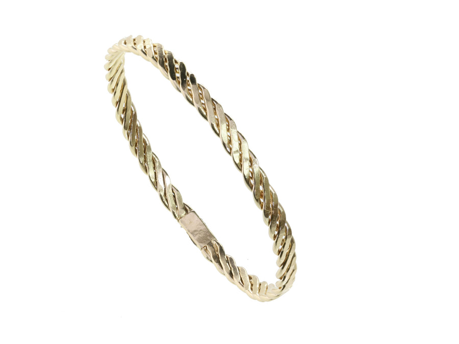 Twisted Gold Bangle