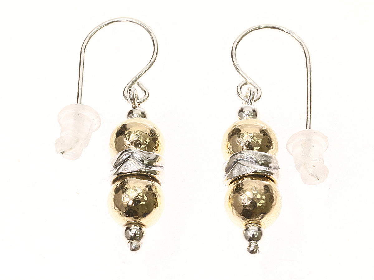 Two Tone Ball Drop Earrings
