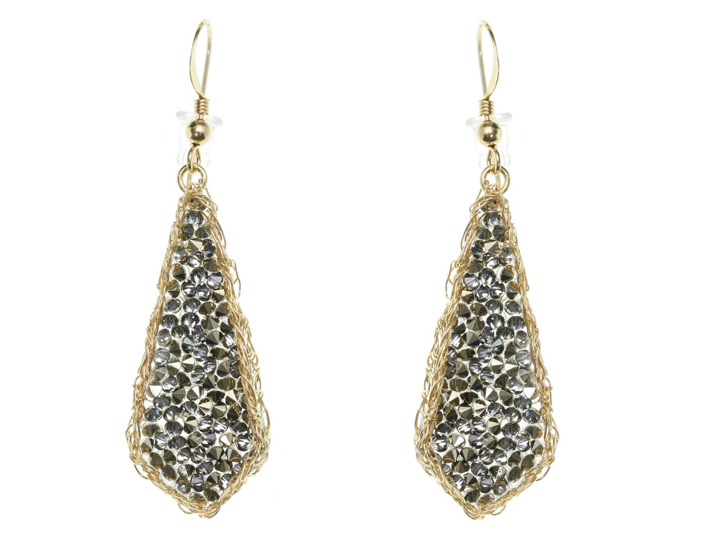 Druzy Diamond Shaped Earrings