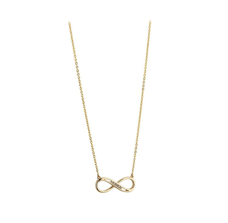 Infinity necklace with CZ's