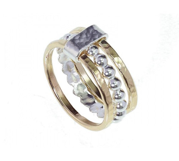 Triple Band Bubble Center Ring