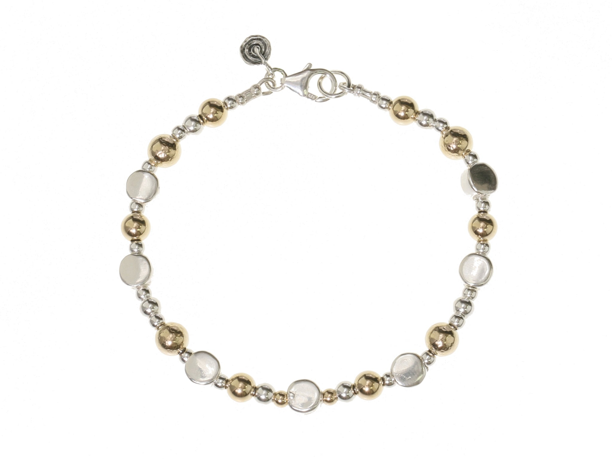 Braclet gold and silver