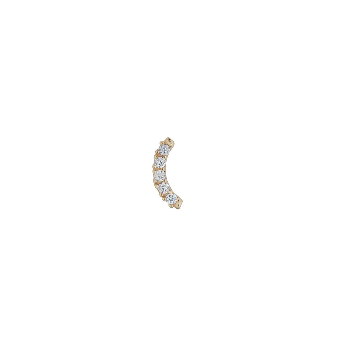 9ct Gold Cubic Arc Garland Piercing