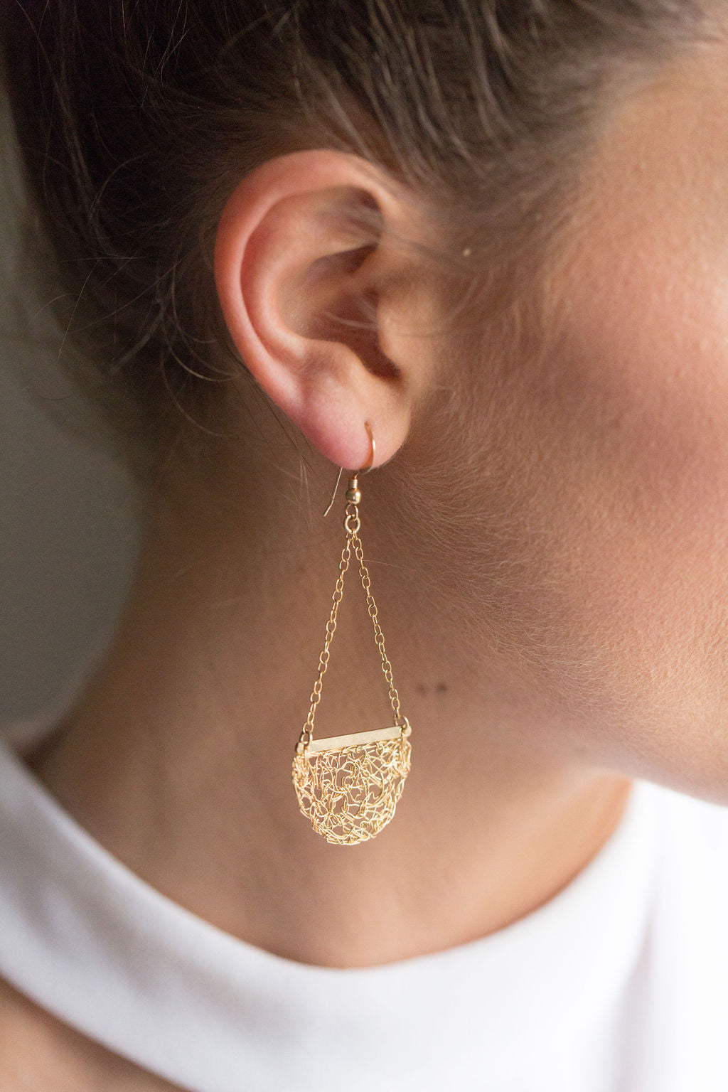 Crochet Drop Earrings
