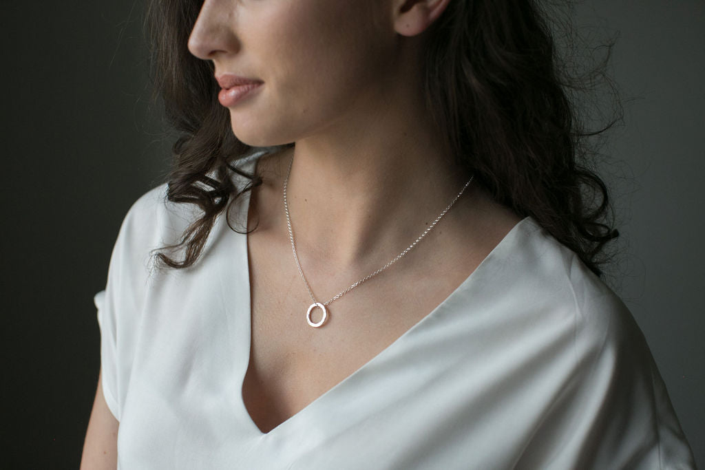 Tranquil Silver Circle Necklace