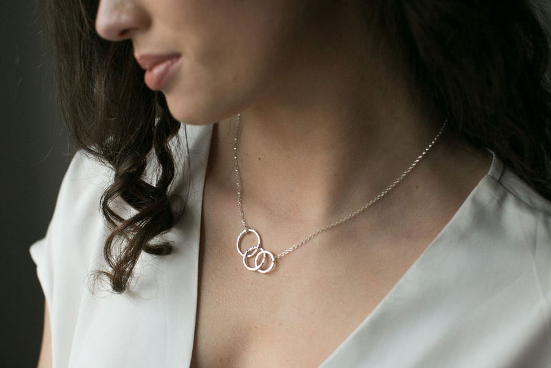 Silver Triple Circles Necklace