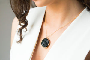 Druzy Crochet Necklace