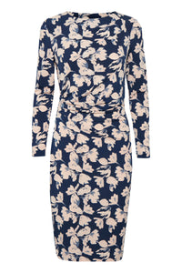 Floral dress in blues