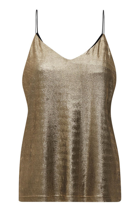 Strappy camisole in gold metallic