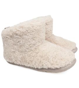 Slipper boot in cream