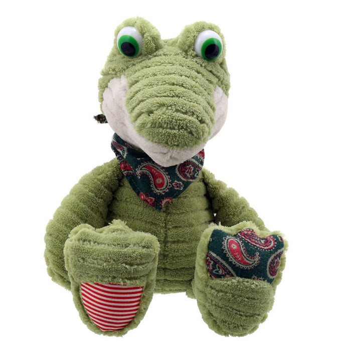 Crocodile toy with neck-tie