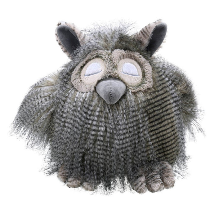 Large sleeping owl soft toy