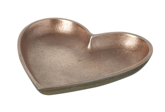 Rose gold heart dish